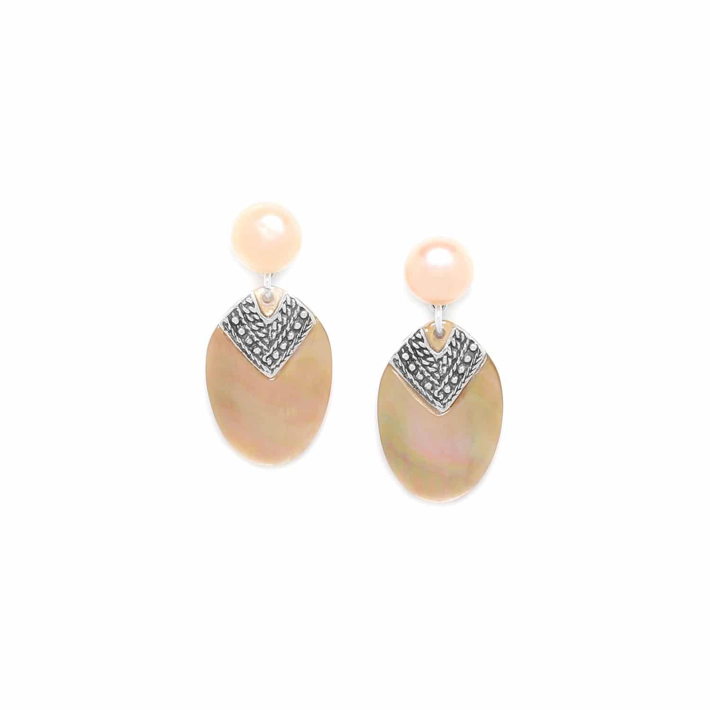 ALTAI boucles d'oreilles top perle de culture
