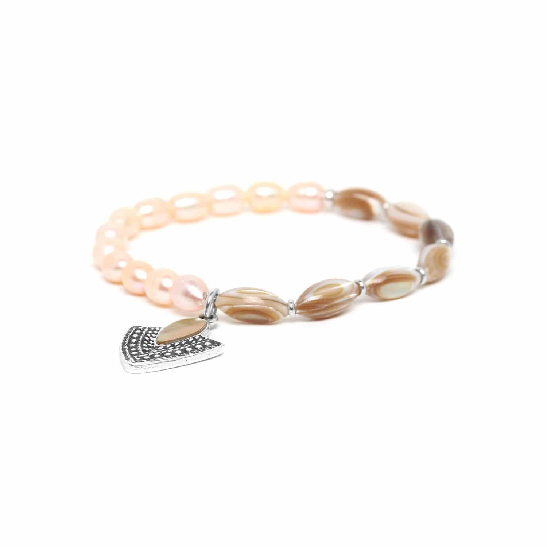 ALTAI bracelet extensible nacre et perle de culture