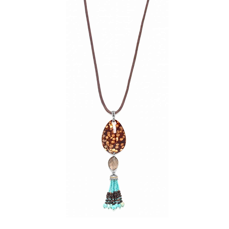 MARACAIBO long necklace shell and tassel