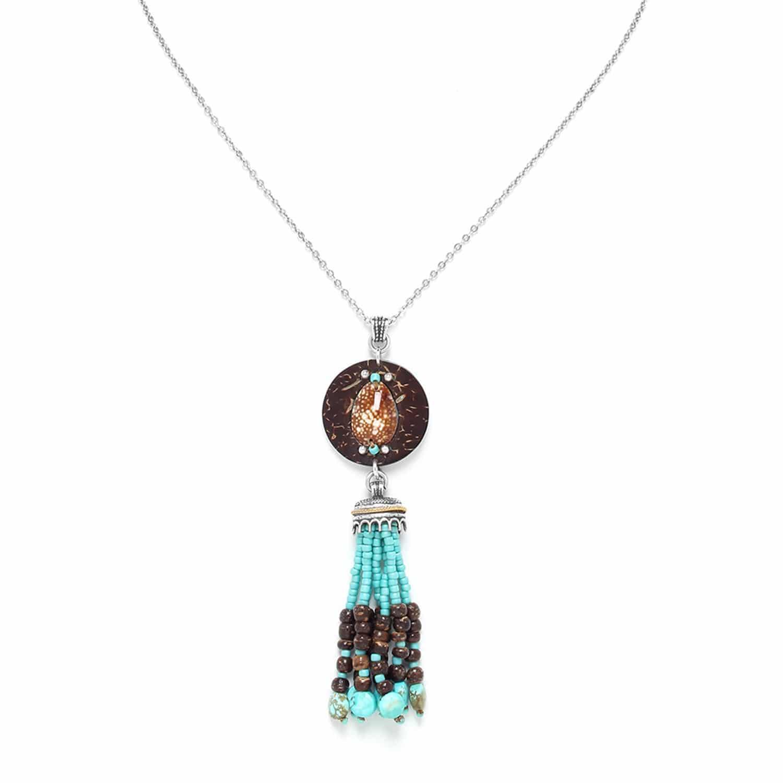 MARACAIBO collier avec coquillage et pampille