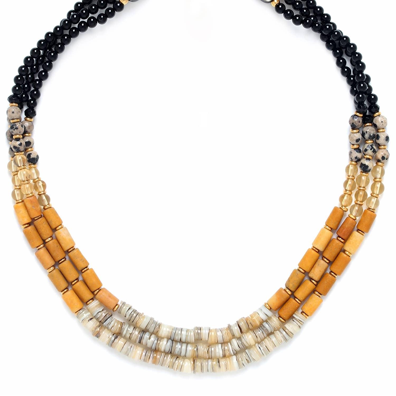 BENGALI 3 row necklace