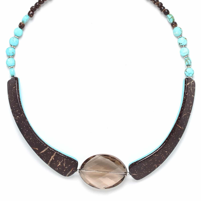 MARACAIBO petit collier quartz fumé