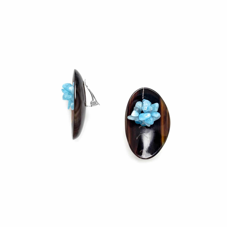 CAP HORN boucles d'oreilles clips grappe