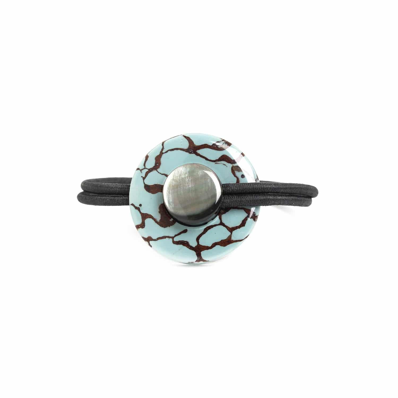 BLEU NUIT bracelet bouton