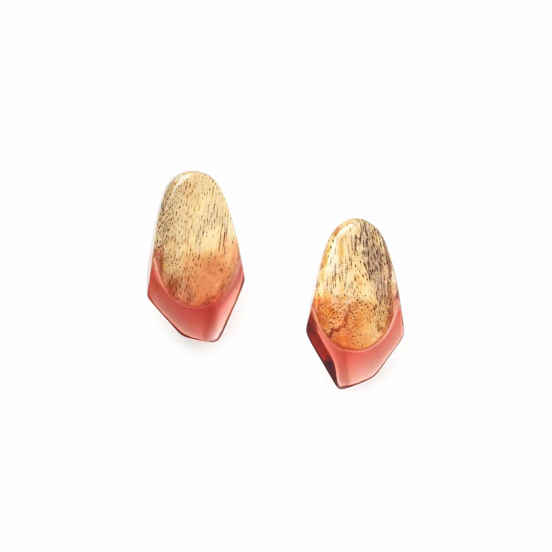 SWEET AMBER boucles d'oreilles clips tamarinier