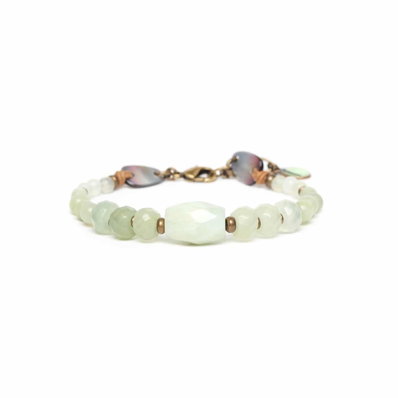 PACHACUTI jade & blacklip bracelet