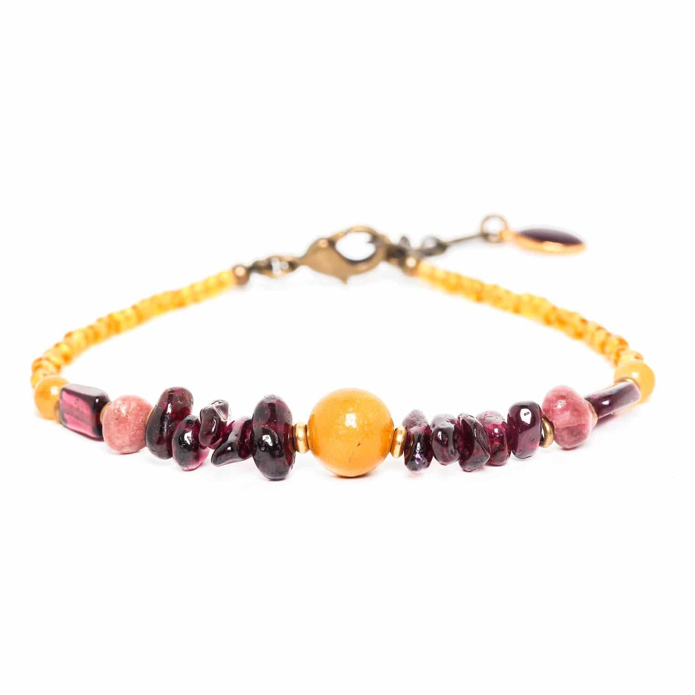 GARDENIA bracelet jaspe et grenat
