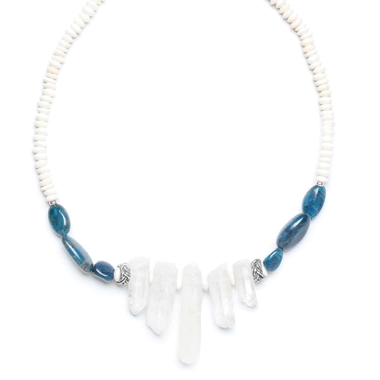 INUIT collier 5 cristaux