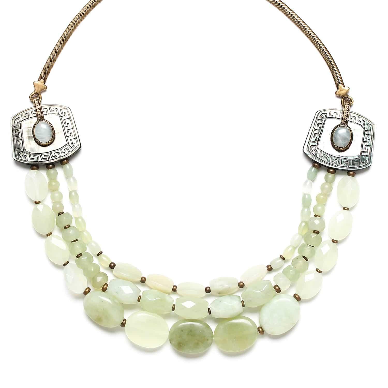 PACHACUTI collier de jade trois rangs