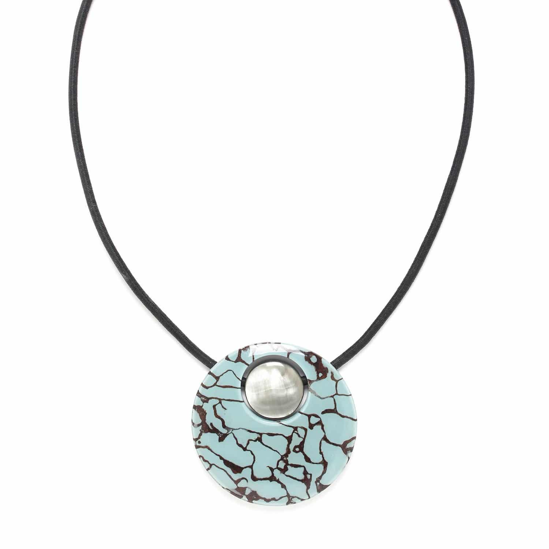 BLEU NUIT collier pendentif