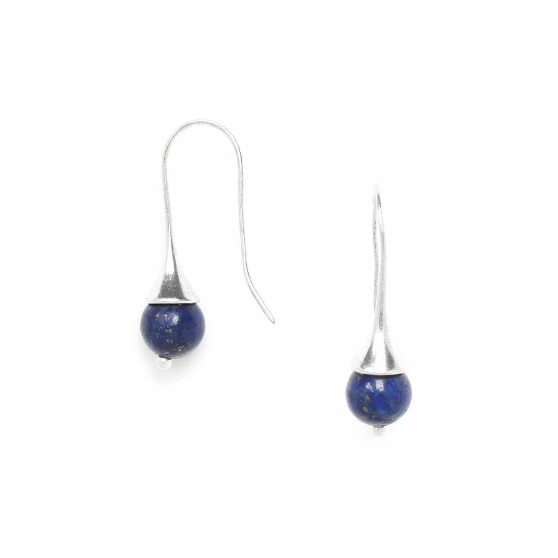 LUCIOLE boucles d'oreilles lapis lazuli