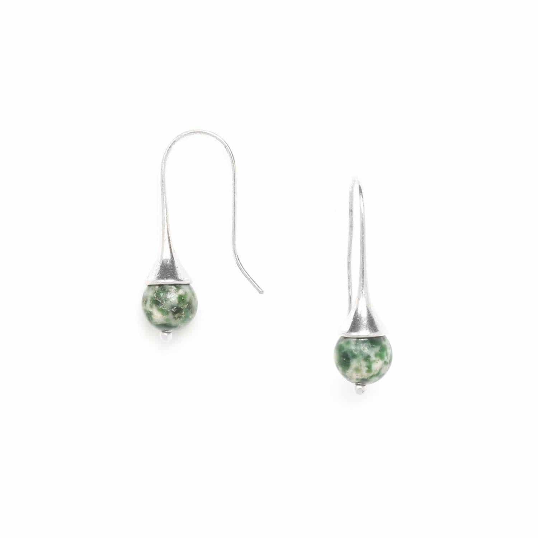 LUCIOLE boucles d'oreilles jaspe vert