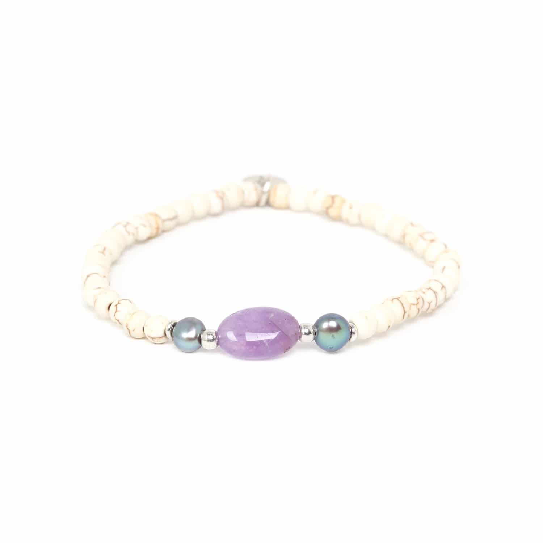 KARMA bracelet amethyste & howlite