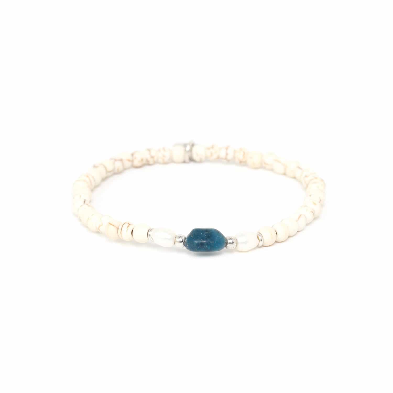 KARMA bracelet apatite & howlite