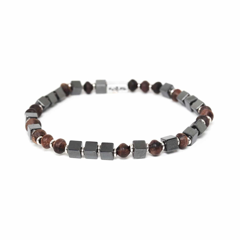THE WAY bracelet hematite & ébène