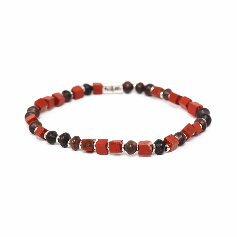 THE WAY bracelet jaspe rouge