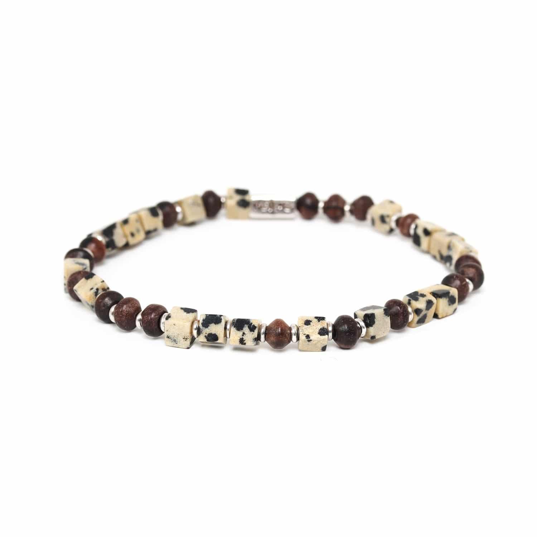THE WAY bracelet jaspe dalmatien