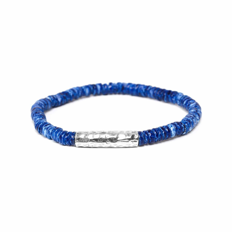 DAGAT indigo heishi bracelet