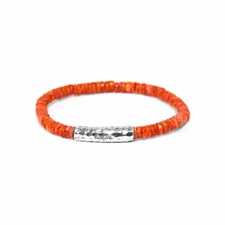 DAGAT tangerine heishi bracelet