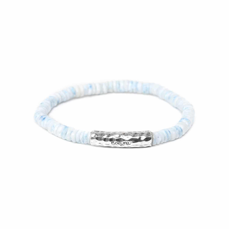 DAGAT soft blue heishi bracelet