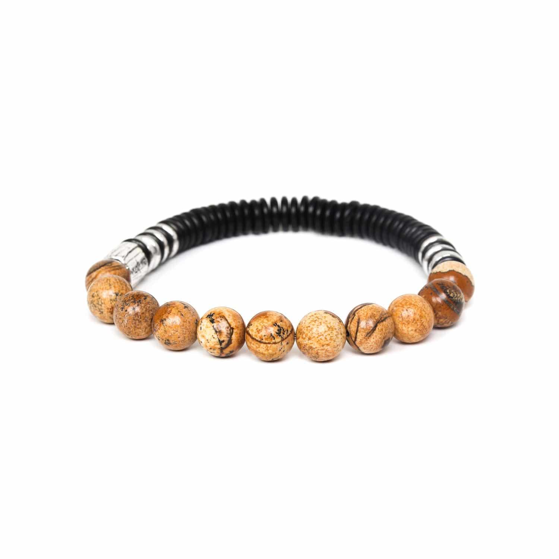 IROQUOIS bracelet extensible jaspe paysager