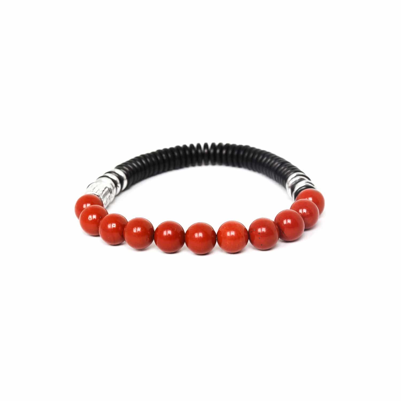 IROQUOIS bracelet extensible jaspe rouge