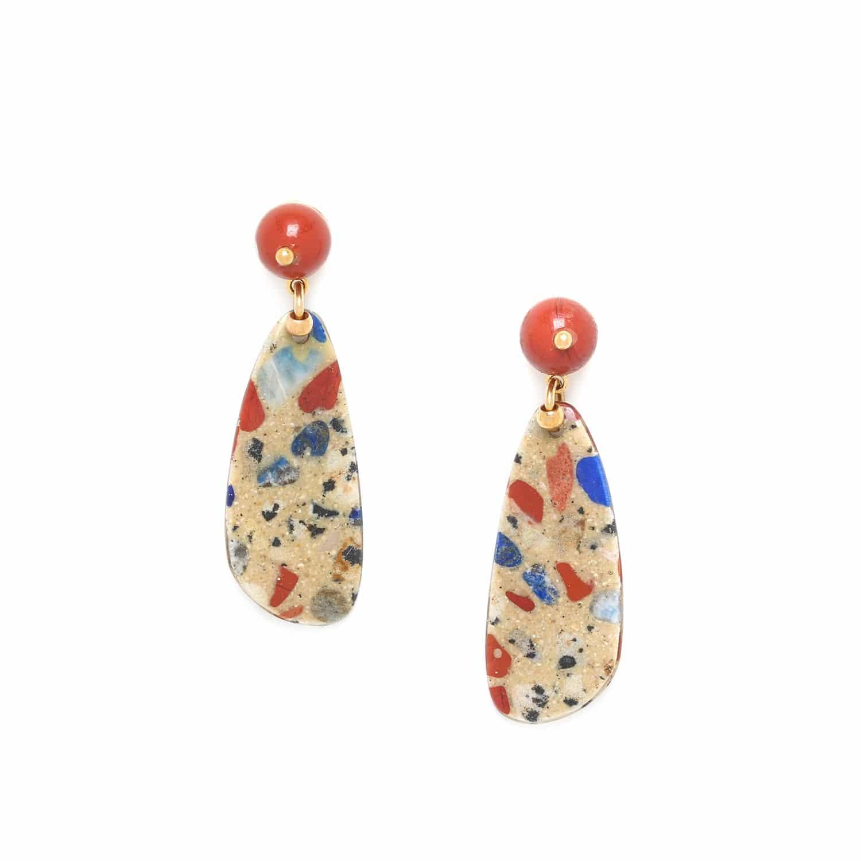 GAUDI jasper top earrings