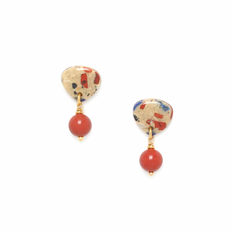 GAUDI round bead earrings