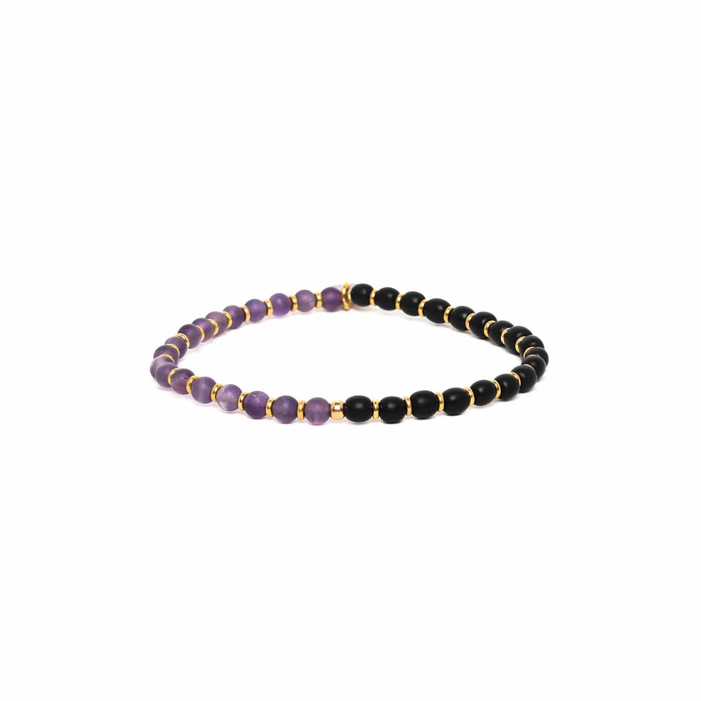 PURPLE RAIN bracelet extensible petites perles