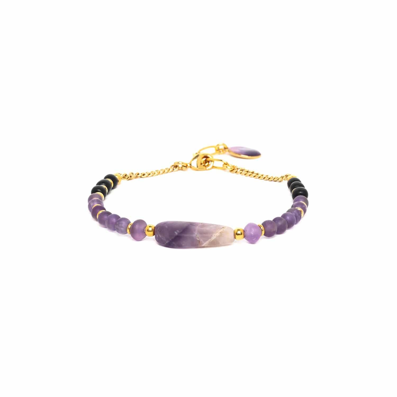 PURPLE RAIN bracelet longue améthyste