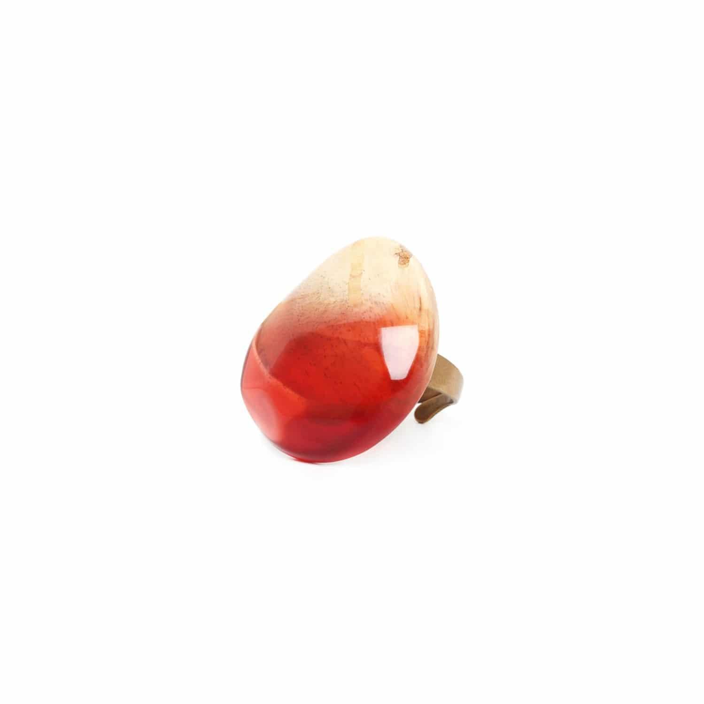 SWEET AMBER bague ronde tamarinier